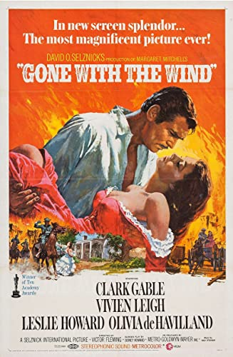 Gone With the Wind Original Movie Poster, 1968 at Amazon's Entertainment  Collectibles Store