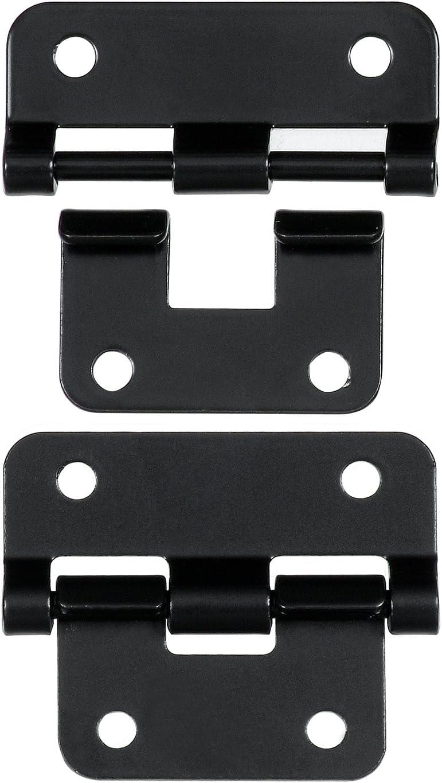 Set of 2 Reliable Hardware Company RH-1225BK-2-A Black Take-Apart//Lift Off Hinge