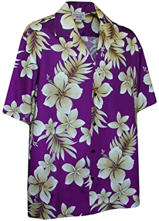 cd831f7d Hawaiian Hibiscus Hawaiian Shirts - Mens Hawaiian Shirts - Aloha Shirt -  Hawaiian at Amazon Men's Clothing store: Button Down Shirts