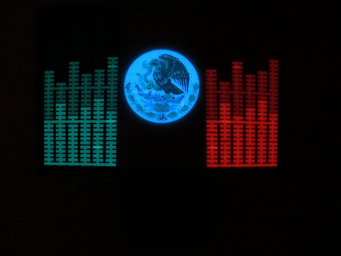 accessory 4u inc Mexico MEX Flag LED Flashing Sound Activated Light Up Shirt XXXL
