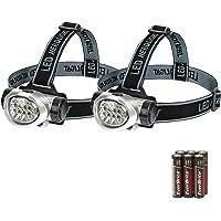 EverBrite 2-Pack Headlamp Flashlight for Running, Camping, Reading, Fishing, Hunting, Walking, Jogging Head Light…