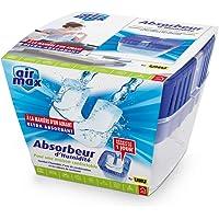 UHU Air Max vochtabsorberend met navulverpakking, 450 g, ideaal voor kamers woonkamer, slaapkamer, badkamer, toilet, enz…