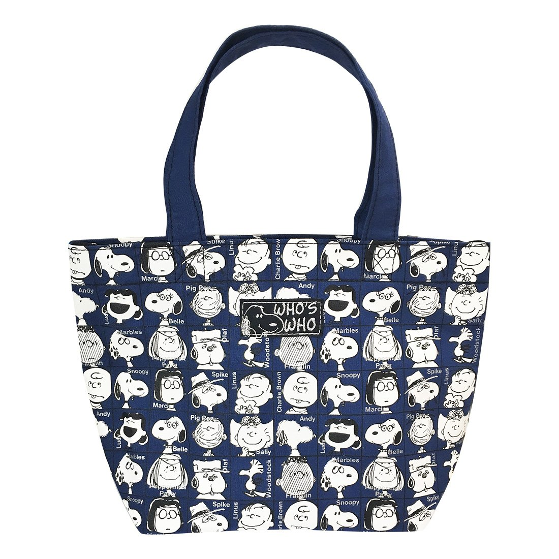 Peanuts Snoopy Mini Tote Bag Lunch Bag Who's WHO SNAP1945
