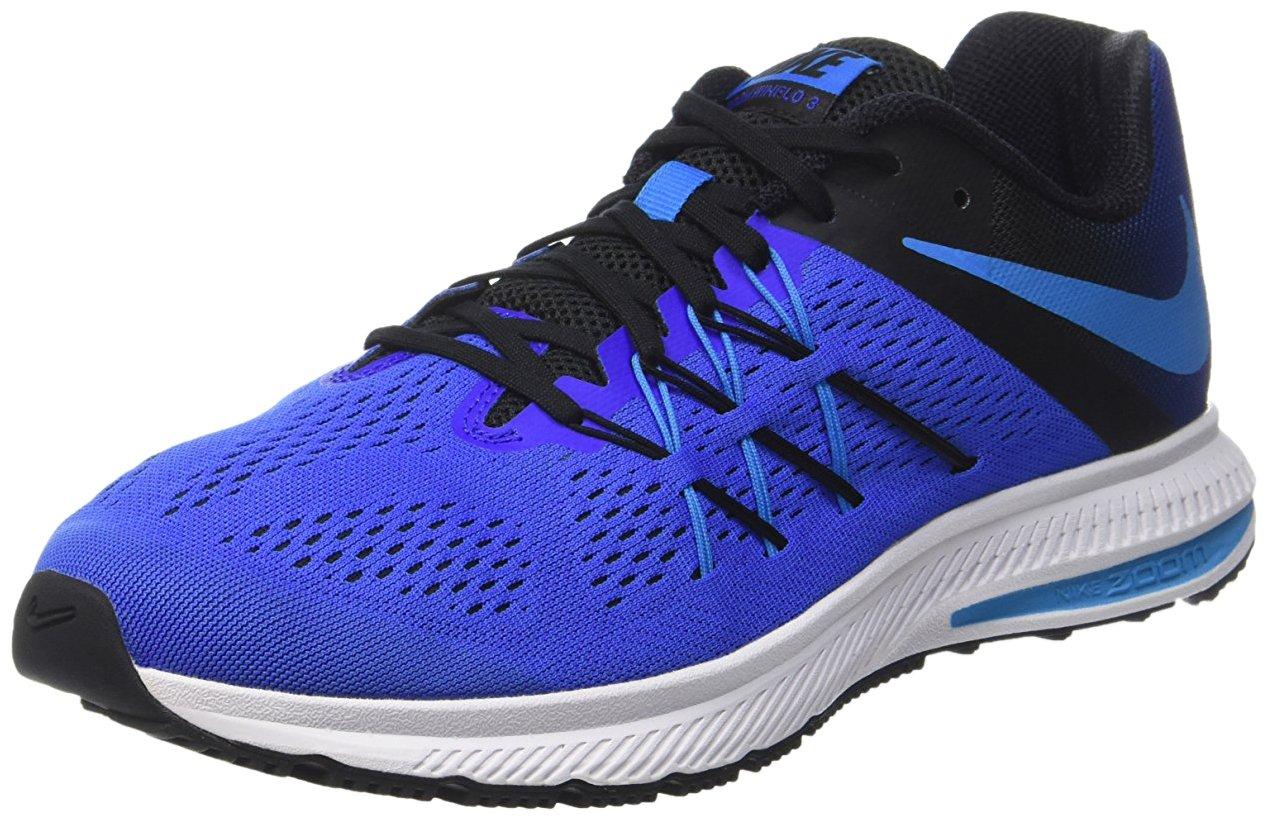 Nike Zoom Winflo 3, Zapatillas de Running Para Hombre 46 EU Azul (Racer Blue / Blue Glow-black-white)