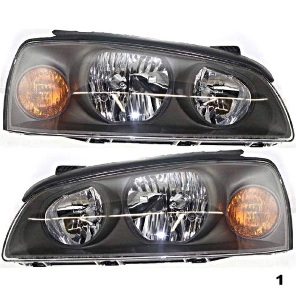 Fits 04-06 Elantra Left & Right Headlamp Assemblies (pair) Aftermarket