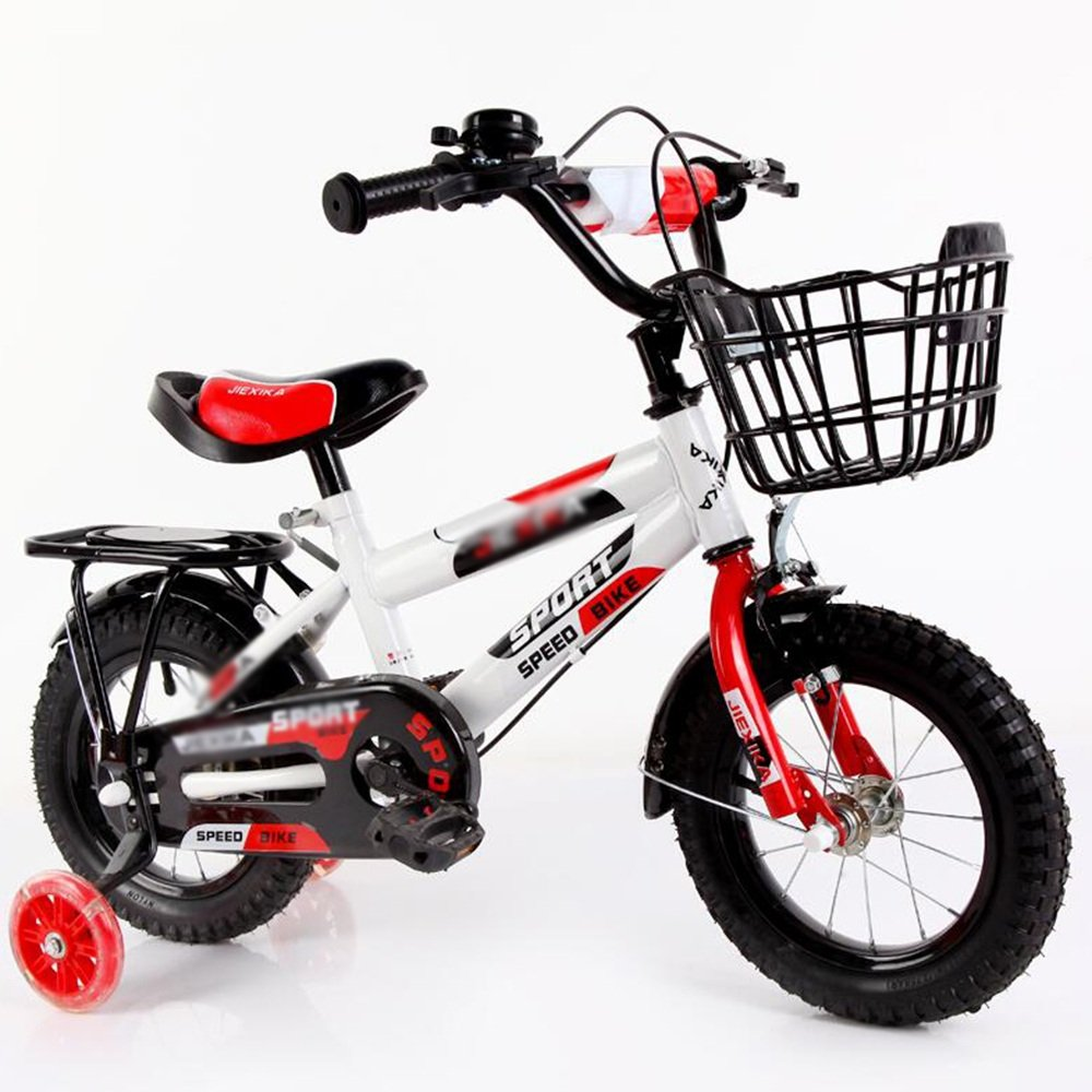 HAIZHEN マウンテンバイク 子供用自転車子供用自転車2歳から11歳 12/14/16/18/20インチレッドブルーオレンジ調節可能な折り畳み式子供用自転車 新生児 B07C3VVJS7 14 inches|赤 赤 14 inches