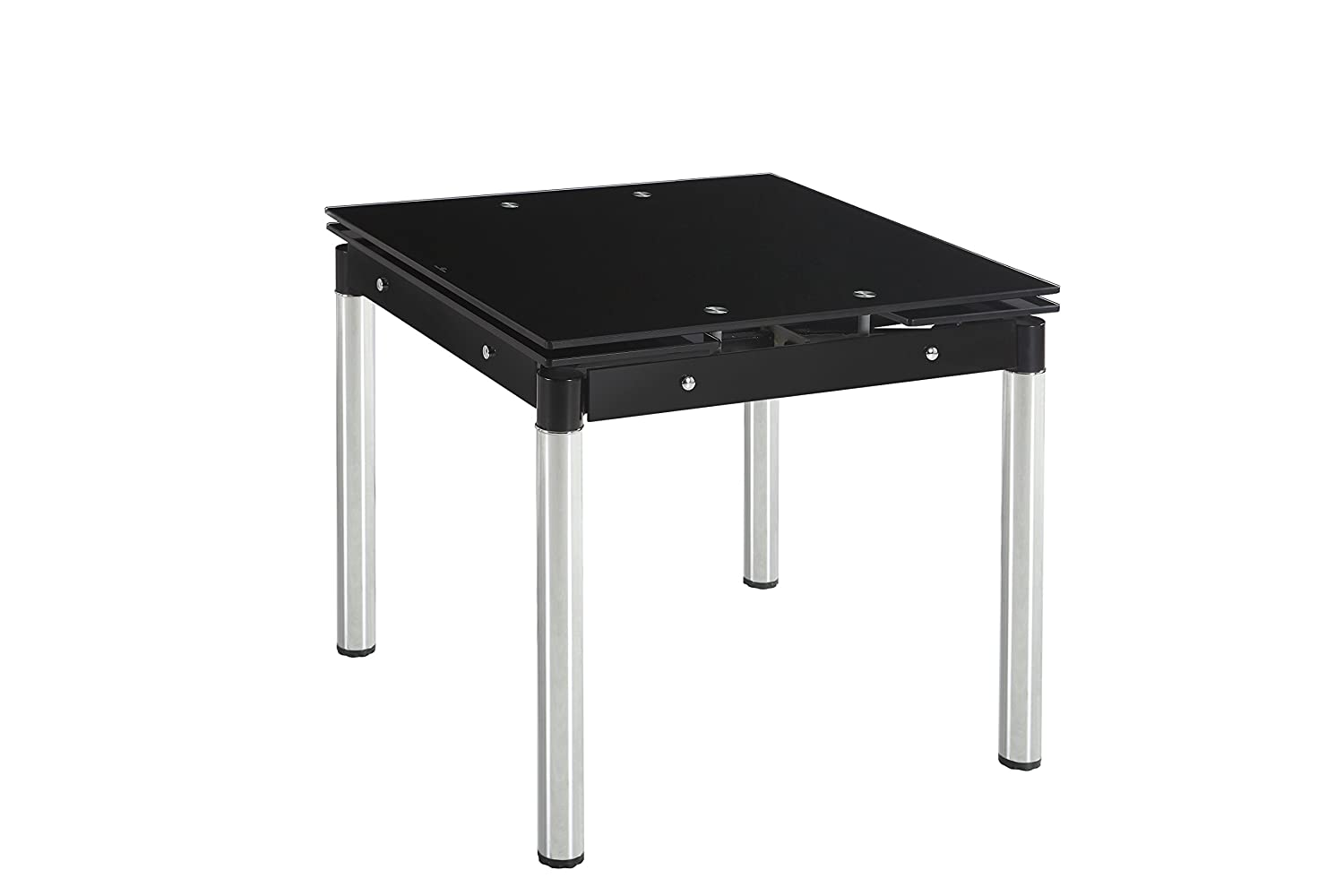 Extending Coffee Table Black Extending Dining Table With Chrome Legs Table Only Square