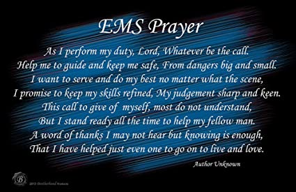 902ce150c2 Amazon.com: BrotherhoodProducts EMS Prayer 11x17 Poster: Posters ...