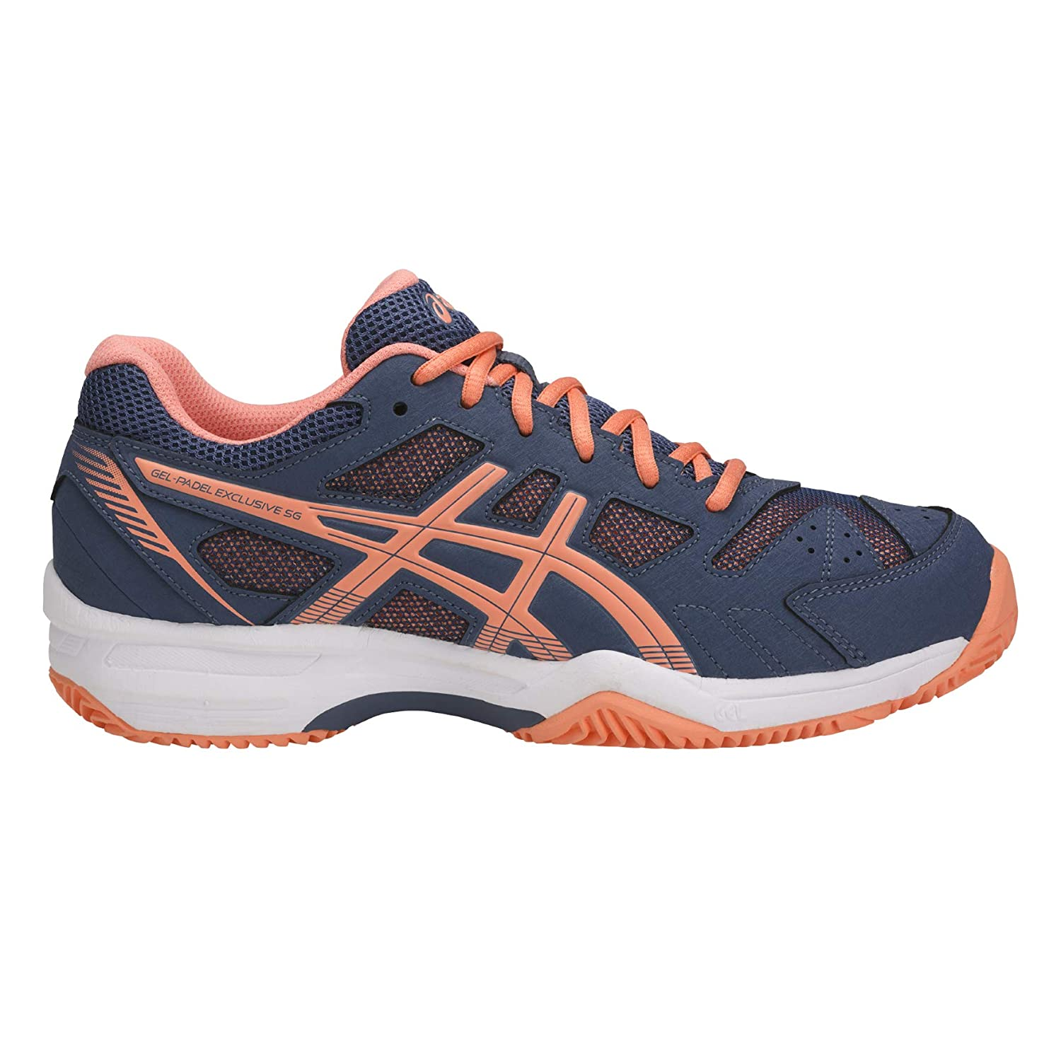 Asics Gel-Padel Exclusive 4 SG Smoke Blue/Canteloupe 41m: Amazon ...
