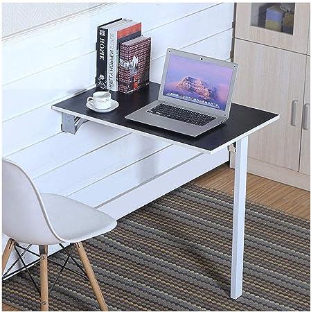 Mesa plegable de pared multifunción, estación de trabajo para computadora de oficina en casa, soporte para computadora portátil plegable con soporte de metal para espacios pequeños Instalación simple: Amazon.es: Hogar