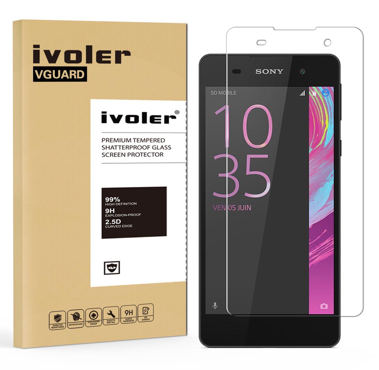iVoler Protector de Pantalla para Sony Xperia E5, Cristal Vidrio Templado Premium: Amazon.es: Electrónica