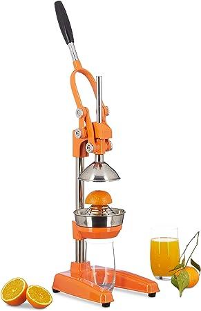 Relaxdays Presse fruits manuel avec levier, presse orange