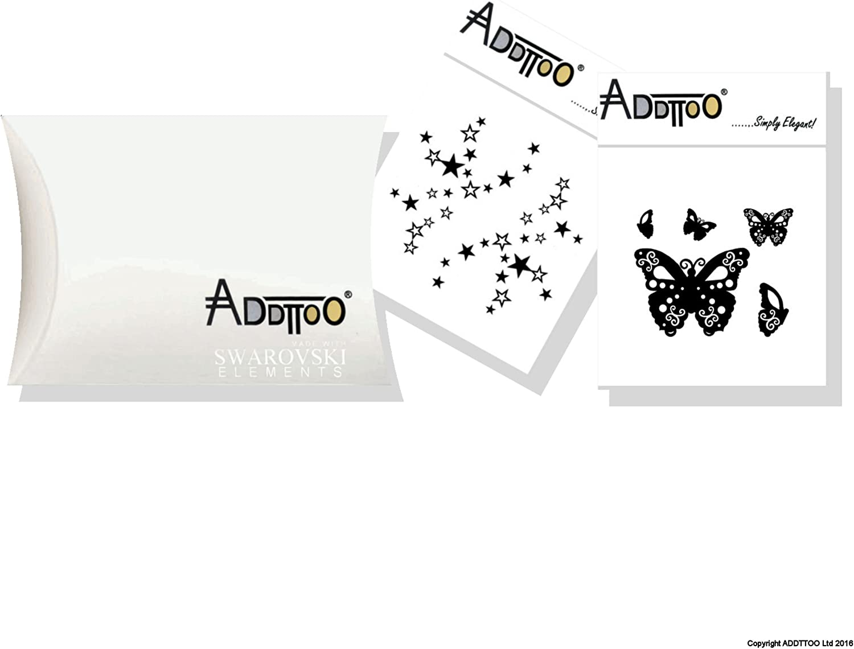 Tamaño grande negro de mariposa y diseño de estrellas fugaces ...