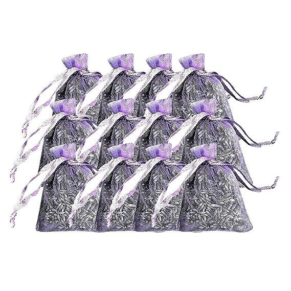 H.eternal 12 bolsas de lavanda seca en una bolsa pequeña de ...