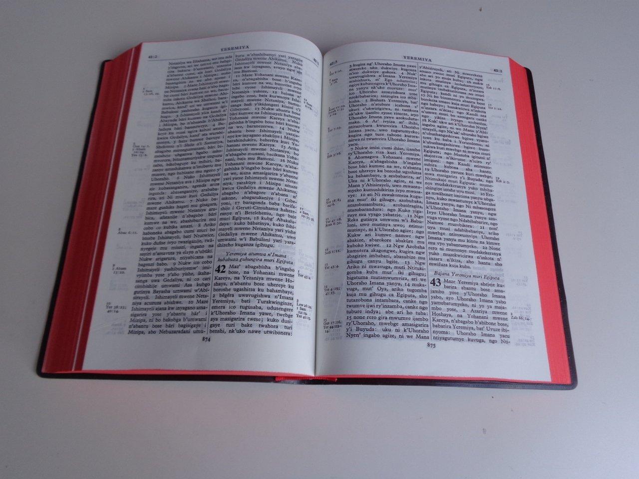 Kirundi Bible 052 Bibiliya Yera / Societe Biblique du Burundi / Ivyanditswe  Vyera vy'Imana ari vyo vyitwa / birimw' Isezerano rya Kera n'Isezerano  Risha: Bible Society, Bible Society of Burundi, Societe Biblique
