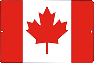 Rogue River Tactical Canada Flag Metal Tin Sign Wall Decor Man Cave Bar Canadian Maple Leaf