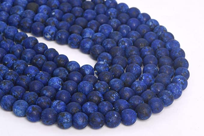 Dark Blue Jade Beads 8mm Round Smooth Gemstone Dyed Lapis lazuli Jade Jasper Beads for Jewelry Making DIY Bracelet Necklace Supplies