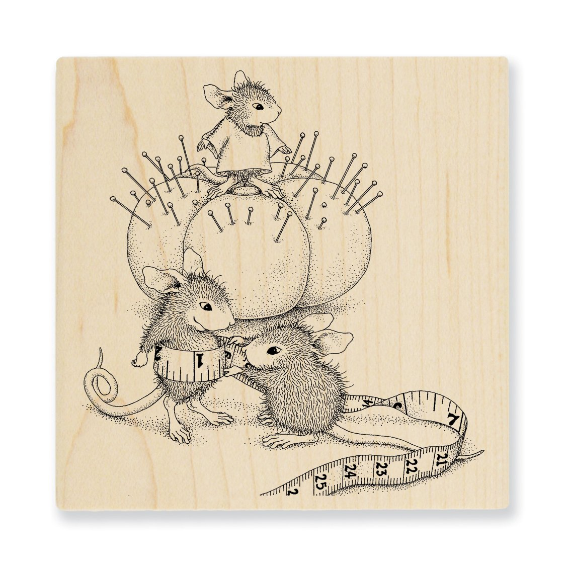 Tiny Tailor Stampendous HMQ20 House Mouse Wood Stamp