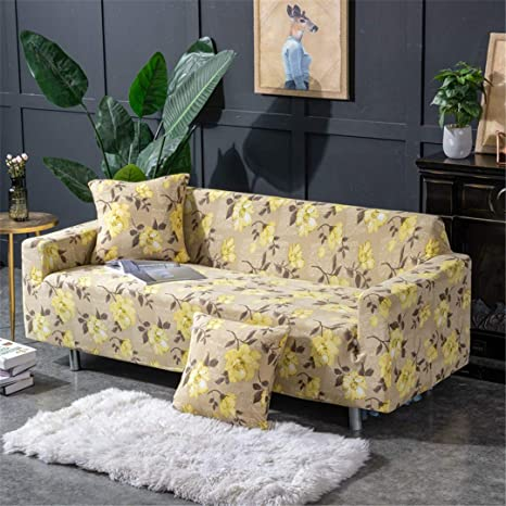Amazon.com: MODENSFCVER Green Leaf Sofa Cover Cotton Set ...