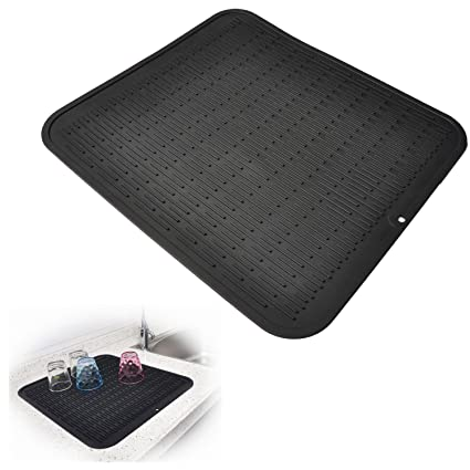 Amazon.com: Silicone Dish Drying Mat - 100% Eco Friendly Kitchen ...