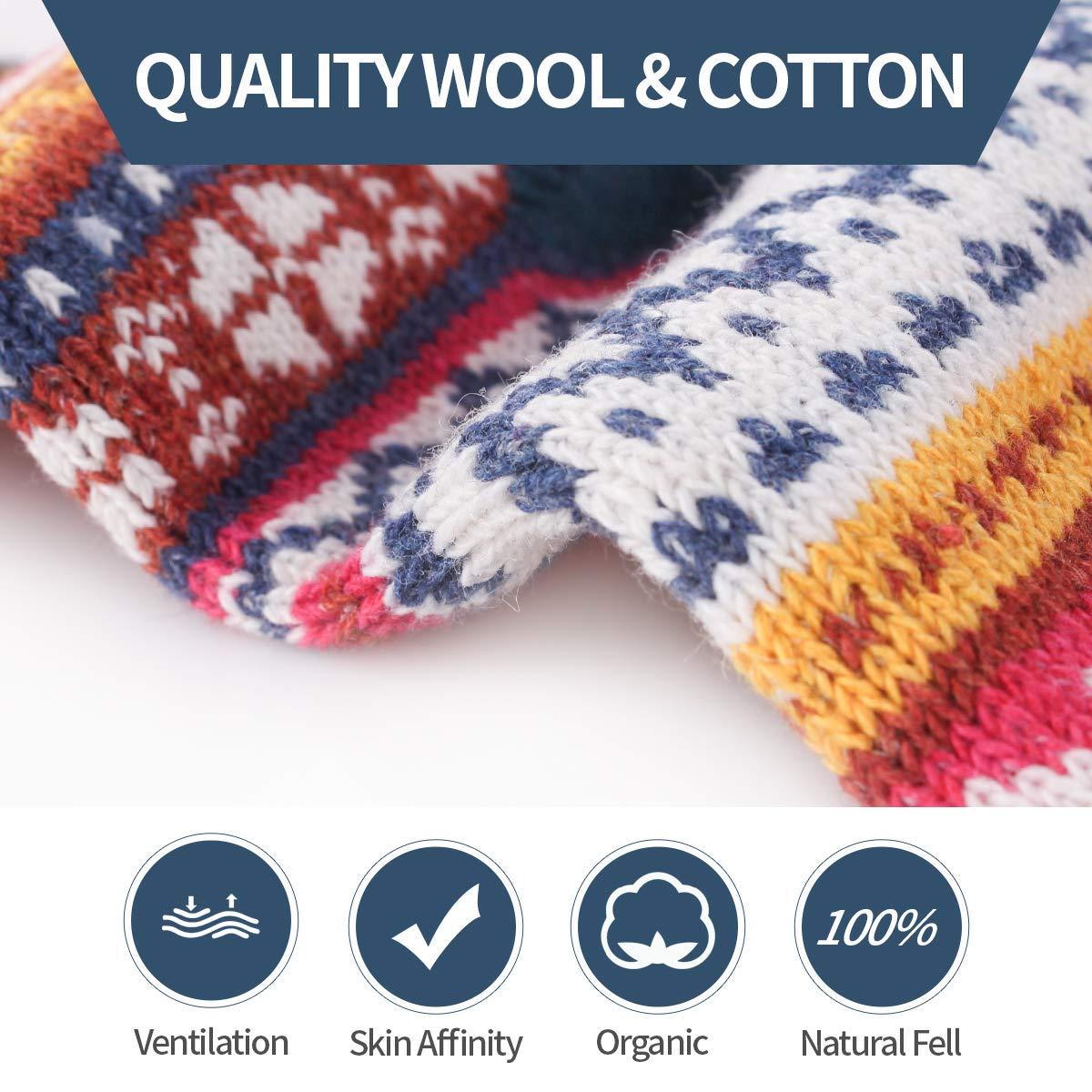 5 Pairs Thermal Womens Socks Warm Thick Knitting Winter Sock for Ladies UK 5-8 EU 32-41