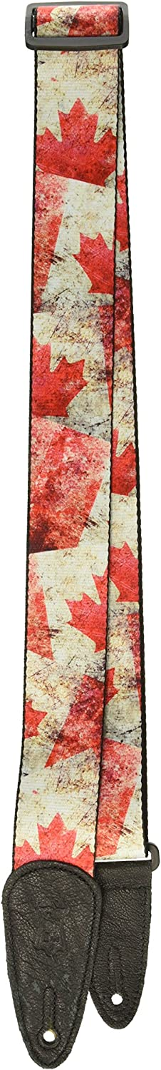 MDP-CA Levys Leathers 2 Polyester Guitar Strap with Sublimation Printed Distressed Flag Design