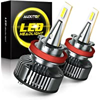 $49 » H11 LED Headlight Bulbs Mini Sized 80W 16,000LM Per Pair, AUXITO H11/H8/H9 Headlight LED Bulb…