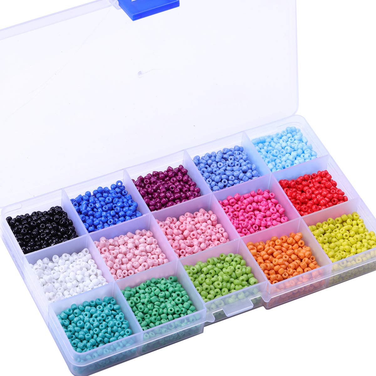 Feb.7 Multicolor Glass Beads Kit with Box for Making Jewelry Necklace Bracelet Gift for Friends Kids