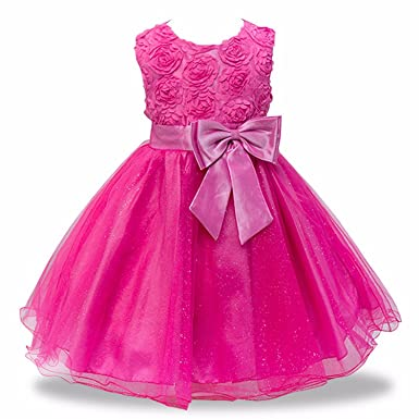 55457aa1ba805c Image Unavailable. Image not available for. Color  Miao Express Baby Girl  Embroidery Silk Princess Dress for Wedding Party Kids Dresses for Toddler  Girl
