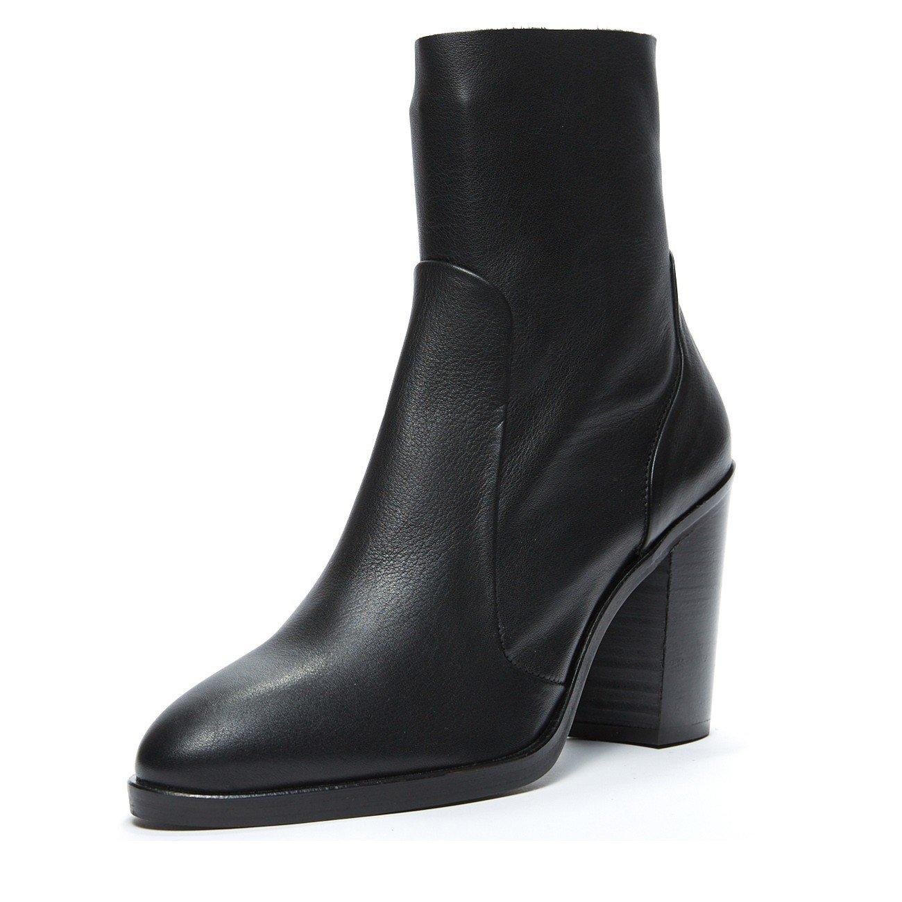 Crosswalk 3373 Leather Ankle Bootie Black B07CMD4VXG 38 EU