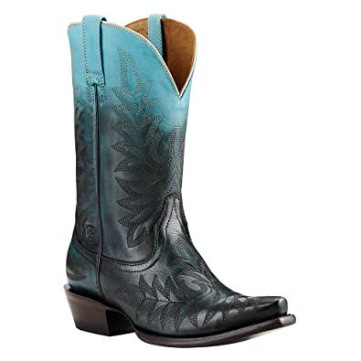 Ariat Womens Ombre X Toe New West 6 B Ombre Blue