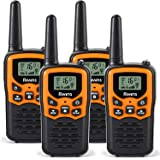 Rivins RV-7 Walkie Talkies for Adults Long Range 4 Pack 2-Way Radios Up to 5 Miles Range in Open Field 22 Channel FRS…
