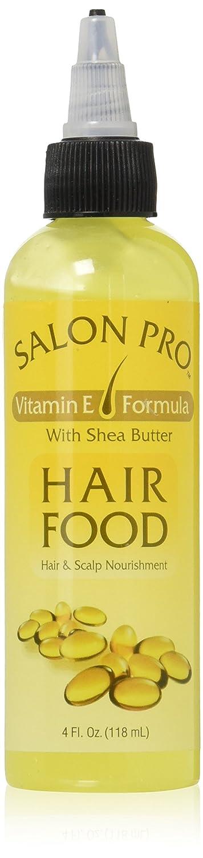 Salon Pro Hair Food, Vitamin E Formula With Shea Butter, 4 Ounce