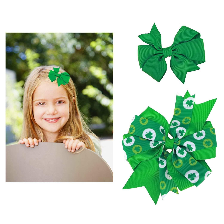 Irish Princess Hair Bow Clip Patrick/'s Day Hair Bow Clip St Newborn Headband, Girls Hair Bow Clip