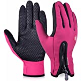Andyshi Men's Winter Outdoor Cycling Glove Touchscreen Gloves for Smart Phone