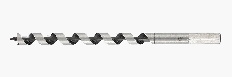 DENZEL Ship Auger Drill Bit, 1/2 inch х 9 inch, Hex Shank (7770105)
