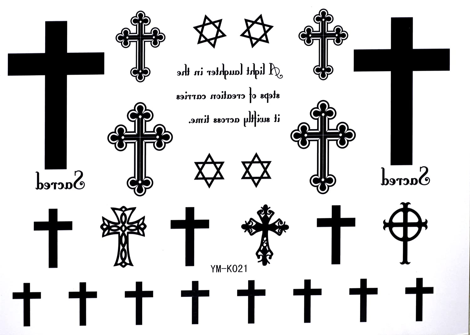 Amazon Com Cross Temporary Tattoos Letters Waterproof Tattoo Stickers Cross Hexagram Fake Tattoo Body Paint Makeup Beauty The cross is how you usually communicate with the god and when the tattoos are inked. cross temporary tattoos letters waterproof tattoo stickers cross hexagram fake tattoo
