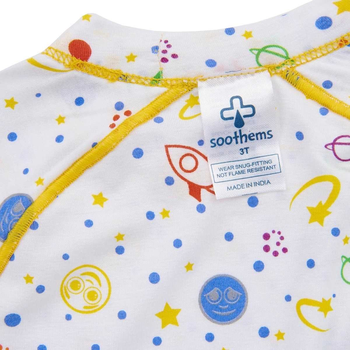 Itch Relief Eczema Shirt - Children's Pajama Top with No Scratch Mitts for Moderate to Severe Eczema Treatment for Kids - Also Used as Wet Wraps Clothing