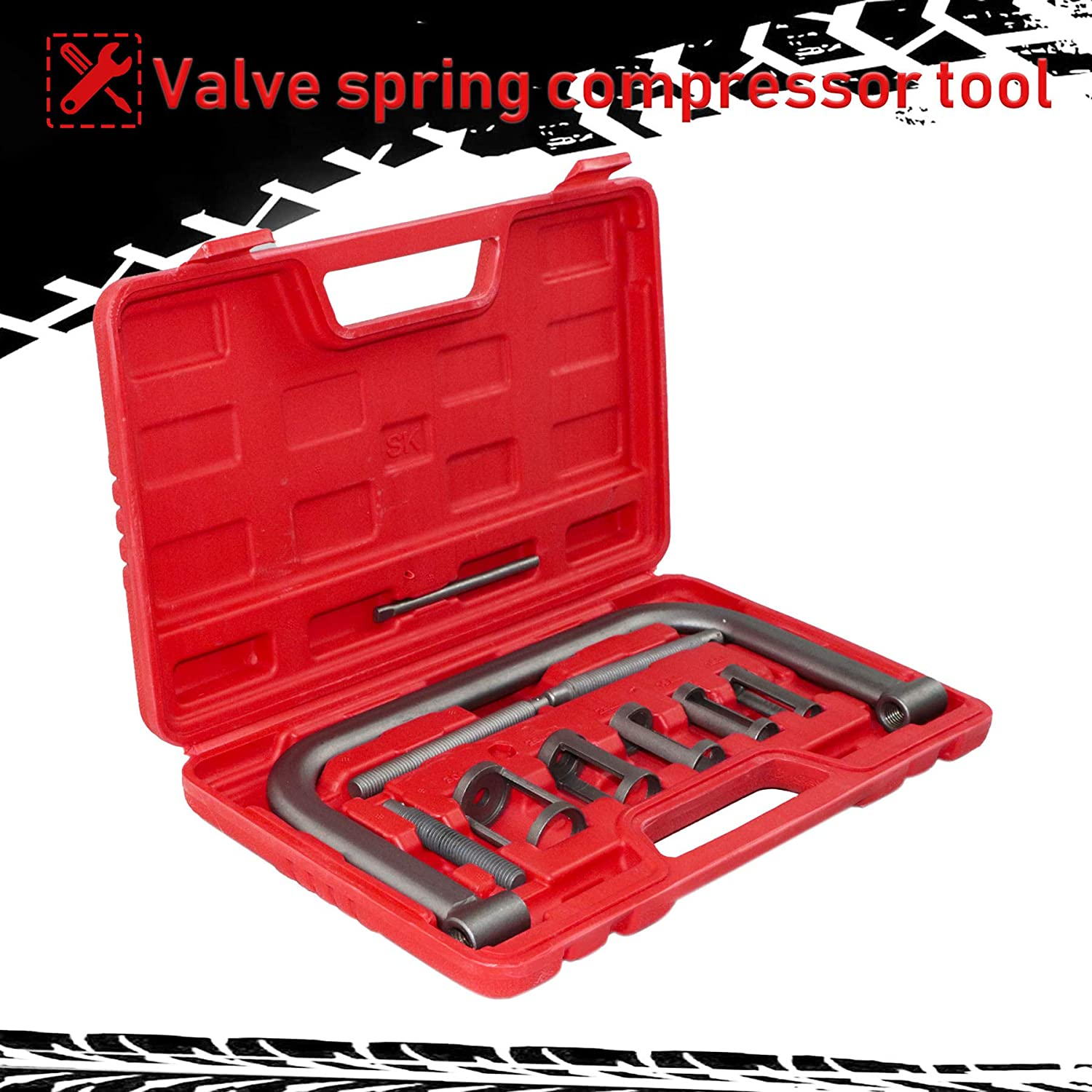 Youxmoto 10pcs Valve Spring Compressor C Clamp Tool Set Auto Compression Clamp Tool Service Kit for Motorcycle ATV Small Engine Vehicle Equipment Car