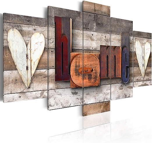 decomonkey Bilder Home 200x100 cm XXL 5 Teilig Leinwandbilder Bild auf  Leinwand Vlies Wandbild Kunstdruck Wanddeko Wand Wohnzimmer Wanddekoration  Deko ...