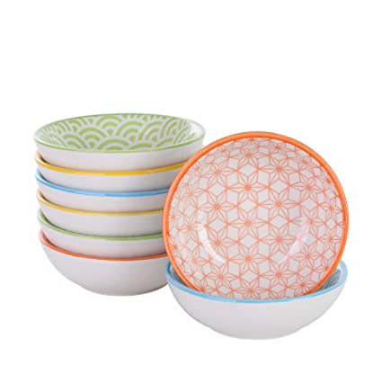 Ciotole In Ceramica.Vancasso Natsuki Set 8 Pezz Servizio Da Tavola In Porcellana Set Di Ciotole Ceramica Combinazione Piattini Vassoi Per Aperitivi E Tapas Fruttiere