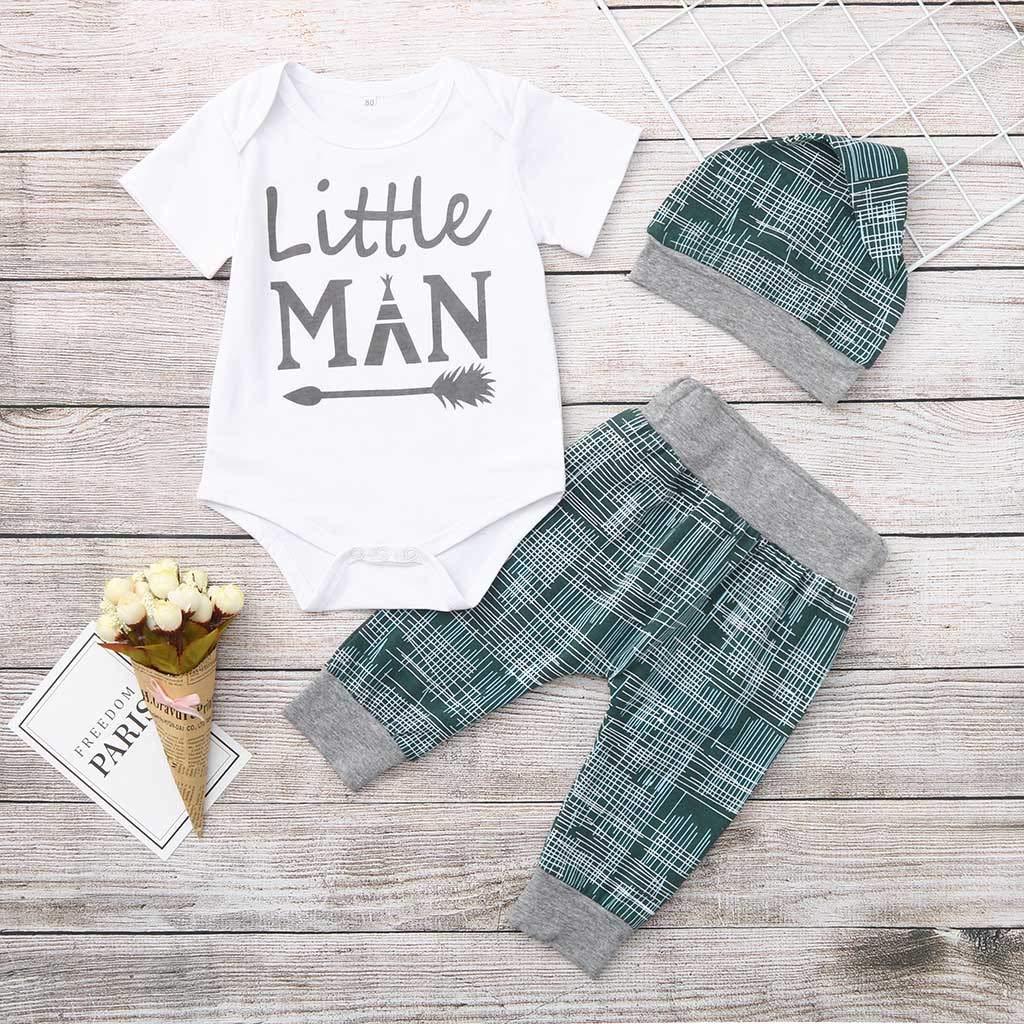 Amazon.com: Juego de ropa para recién nacido de 3 piezas ...