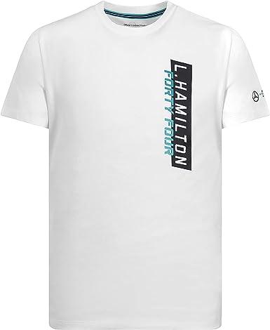 Mercedes AMG Petronas Motorsport F1 Lewis Hamilton - Camiseta de manga corta, color blanco, S, Blanco: Amazon.es: Deportes y aire libre