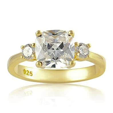 7c18e5fd5e3 Designer Inspirations Boutique  reg  Femme Argent 925 1000 9 ct plaqué  argent or Blanc