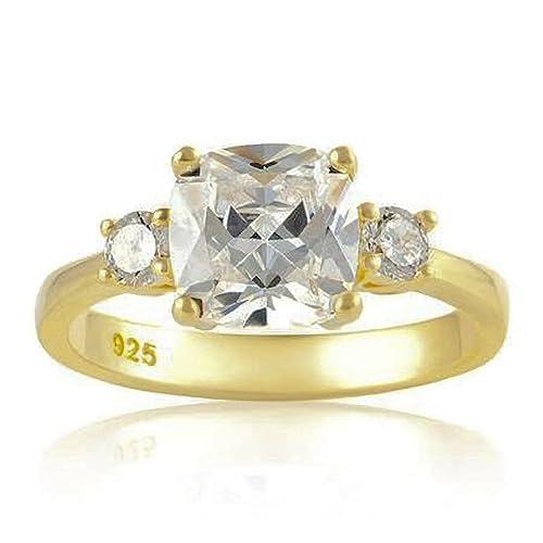 Designer Inspirations Boutique ® Mujer Plata fina 925 Plata bañada en oro, 9 ct