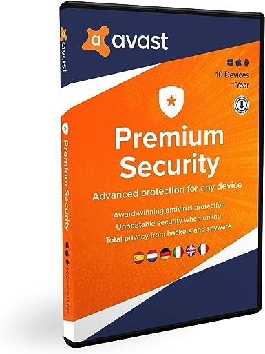 Avast Premium Security   Multidispositivos   10 dispositivos   1 Año   En Caja