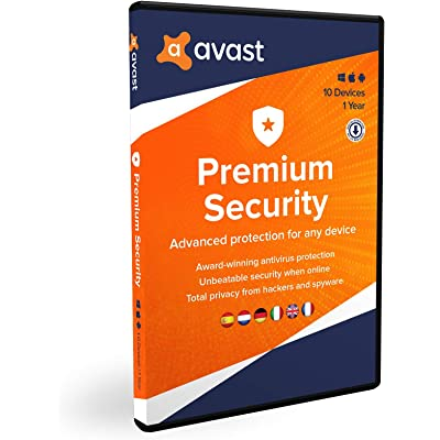Avast Premium Security 2020 | Multidispositivos | 10 dispositivos | 1 Año | En Caja