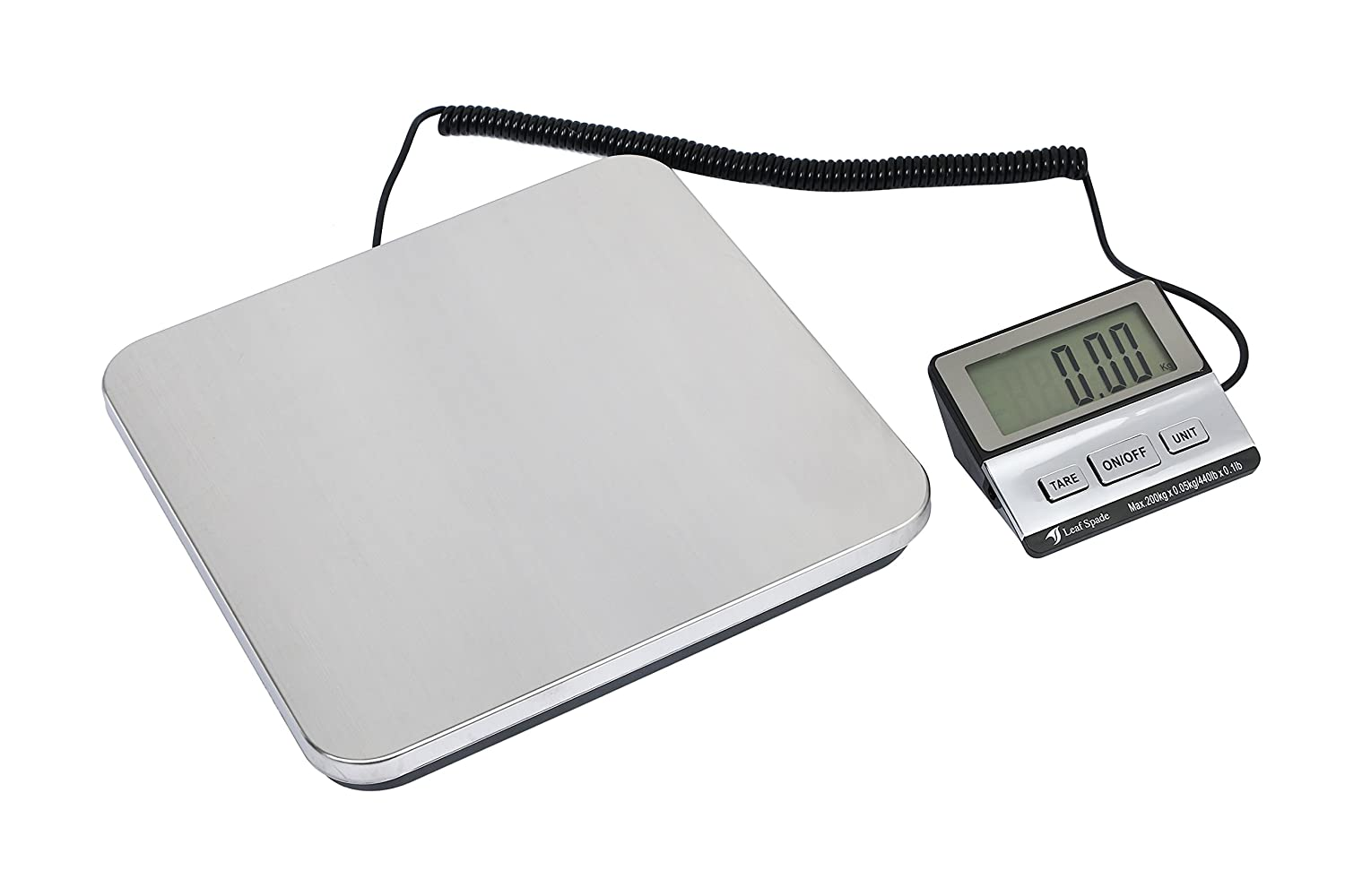 Leaf spade 440 lbs Digital Shipping Postal Scale with Durable Stainless Steel (440lb) LS-200