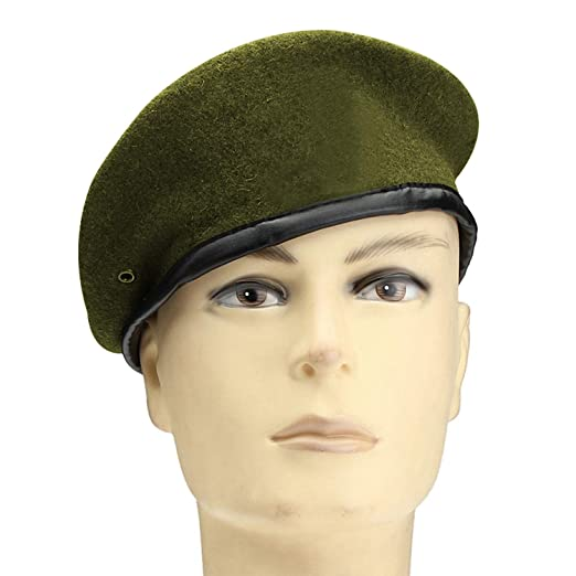 b02186c0516 Unisex Military Army Soldier Hat 2018 Men Women Wool Beret Special Forces  Soldiers Hats Flat Uniform Cap at Amazon Women s Clothing store