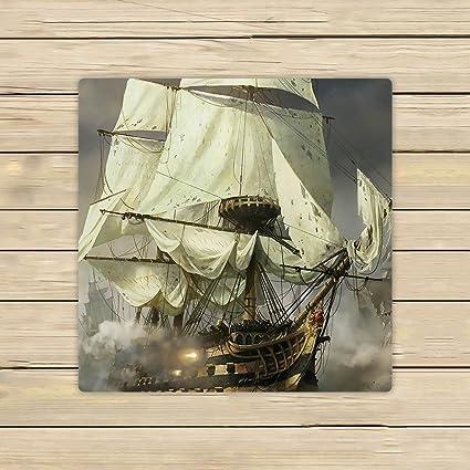 Custom Cool barco pirata toalla de mano, toalla de Spa, playa toallas de baño